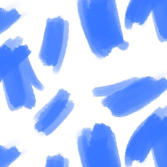 Modèle de trait de pinceau bleu abstrait