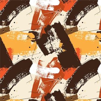 Modèle de traits de pinceau de peinture abstraite