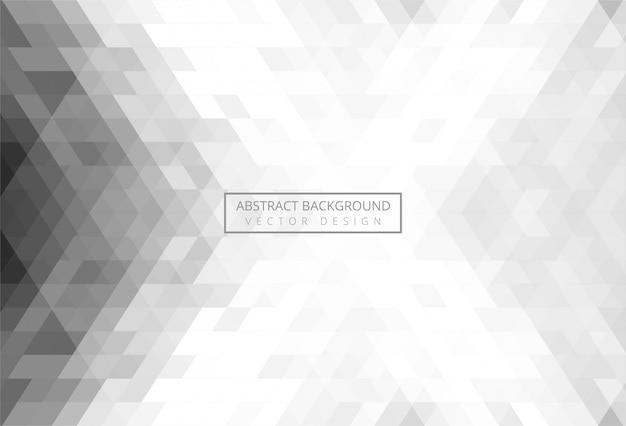 Modèle De Triangle Abstrait Gris Vecteur gratuit