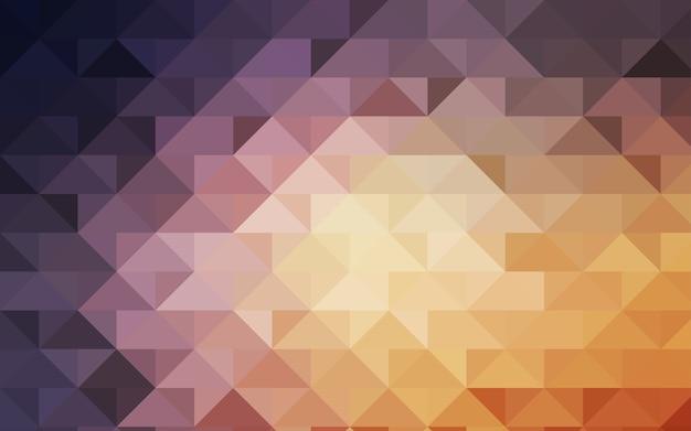 Modèle de triangle flou vector jaune