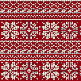 Modèle de tricot étoile norvégienne