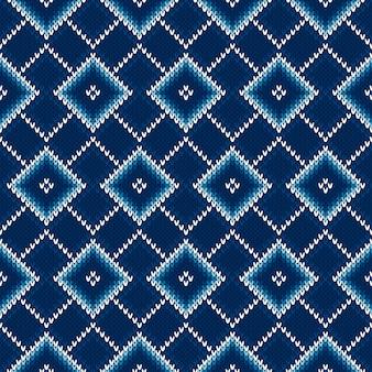 Modèle de tricot sans couture argyle.