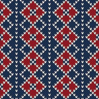 Modèle de tricot sans couture de conception de chandail de noël