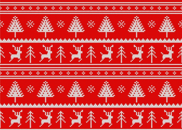 Modèle de tricot sans couture de pull de noël