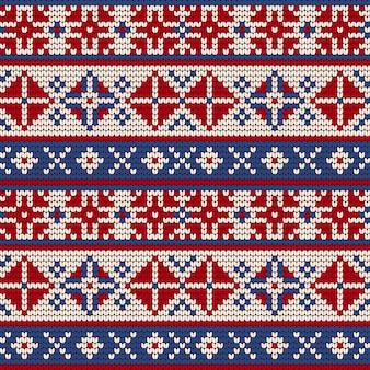 Modèle de tricot traditionnel pour ugly sweater