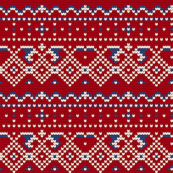 Modèle de tricot traditionnel pour ugly sweater