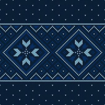 Modèle tricoté de noël. motif géométrique sans couture d'hiver.