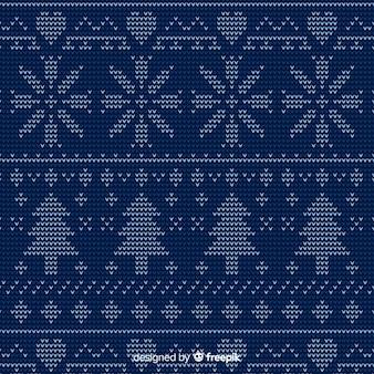Modèle tricoté de noël