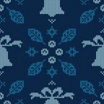Modèle tricoté de noël.