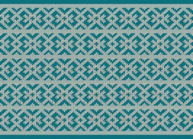 Modèle tricoté pour les vacances d'hiver