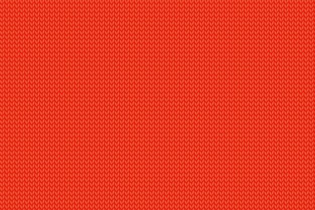 Modèle tricoté rouge de noël. étoffe de laine.
