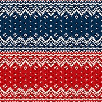 Modèle tricoté sans couture de conception de pull de noël