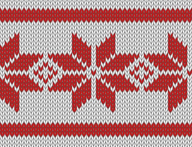 Modèle tricoté sans couture avec des flocons de neige rouges.