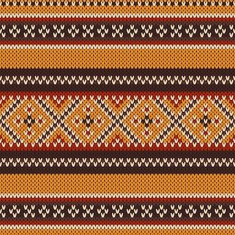 Modèle tricoté sans couture. fond de vecteur