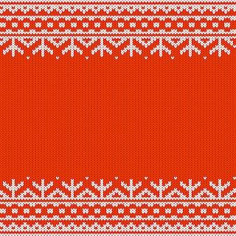 Modèle tricoté sans couture horizontale