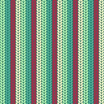 Modèle tricoté sans couture illustration.