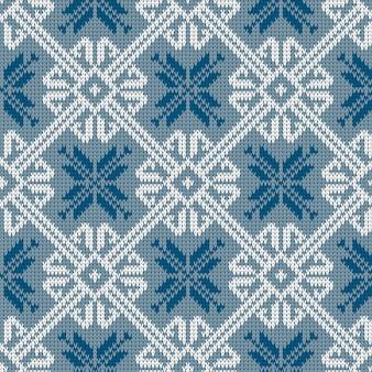Modèle tricoté sans couture en laine norvégienne