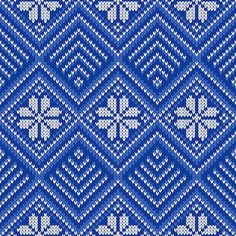 Modèle tricoté sans couture. ornement ethnique