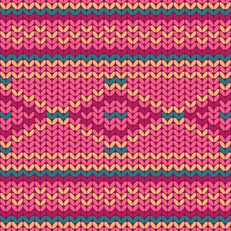 Modèle tricoté sans couture. texture tricotée.