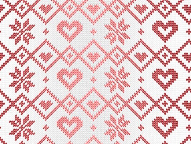 Modèle tricoté sans couture de vacances d'hiver.