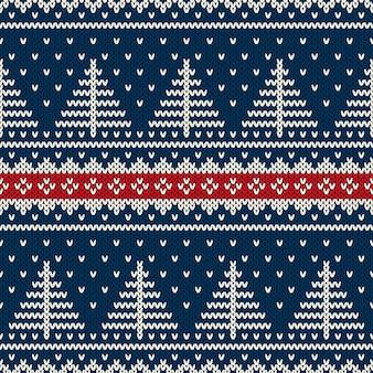 Modèle tricoté sans couture de vacances d'hiver