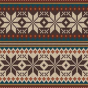 Modèle tricoté sans couture
