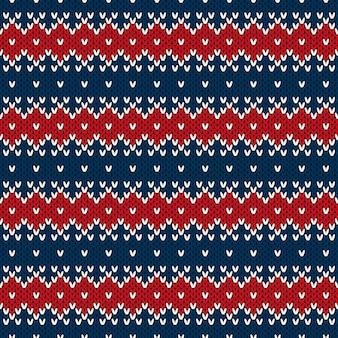 Modèle tricoté de vacances d'hiver fair isle.
