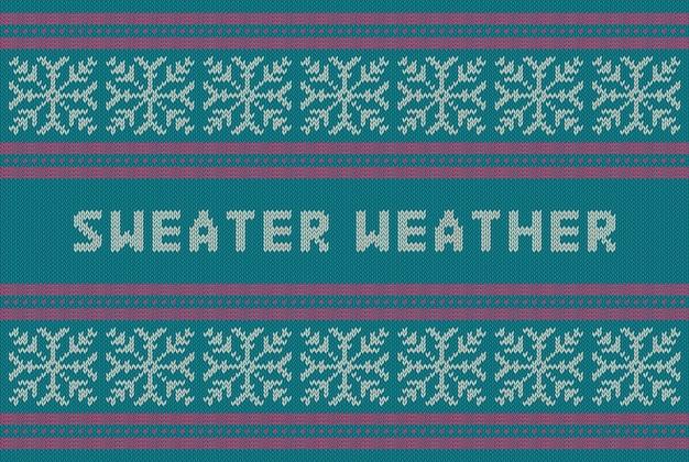 Modèle tricoté de vacances d'hiver avec des flocons de neige