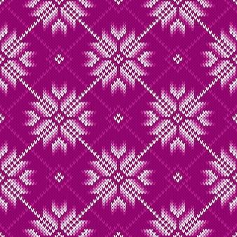 Modèle tricoté de vacances d'hiver