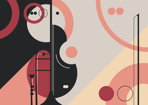 Modèle avec trompette et violon.