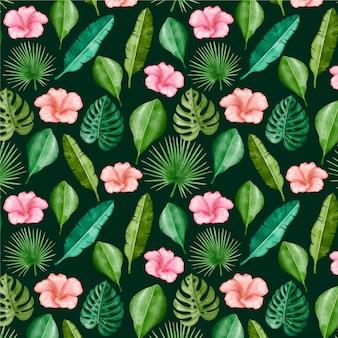 Modèle tropical d'été aquarelle peint à la main