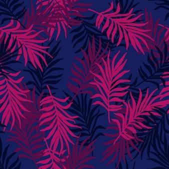 Modèle tropical sans couture d'été avec des feuilles de palmier