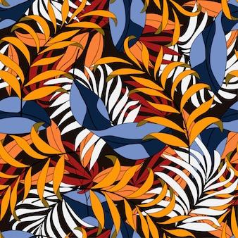 Modèle tropical sans couture original de l'été