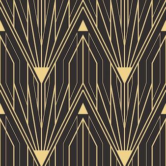 Modèle de tuiles modernes sans couture art déco abstraite
