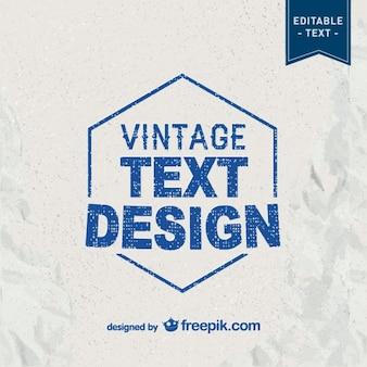 Modèle de typographie de cru libre