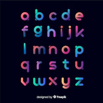 Modèle de typographie dégradé coloré