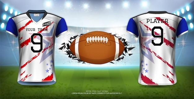 Modèle d'uniformes de maillots de football.