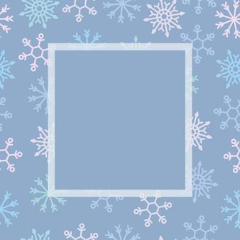 Modèle de vacances cadre de flocon de neige.