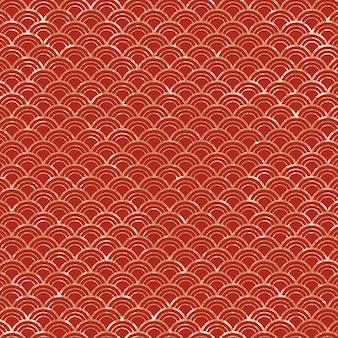Modèle de vague japonaise grunge rouge