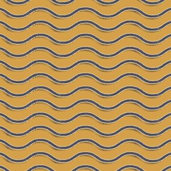 Modèle de vagues rétro. abstrait géométrique dans une image de style années 80 et 90. illustration simple géométrique