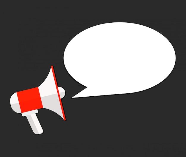 Modèle de vecteur annonce haut-parleur plat