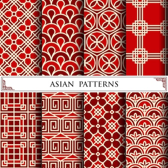 Modèle de vecteur asiatique