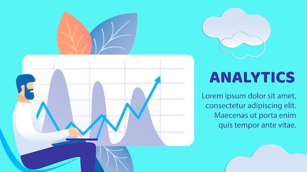 Modèle de vecteur de business analytics flat banner