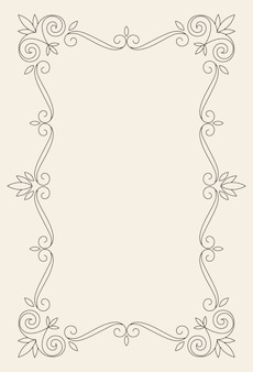 Modèle de vecteur de carte de voeux d'ornement vintage.