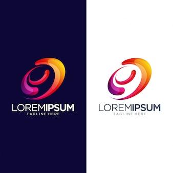 Modèle de vecteur de conception abstraite swoosh logo design