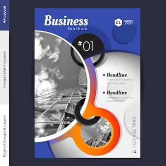 Modèle de vecteur de conception de brochure