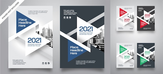 Modèle de vecteur de conception de couverture de livre d'affaires fond ville