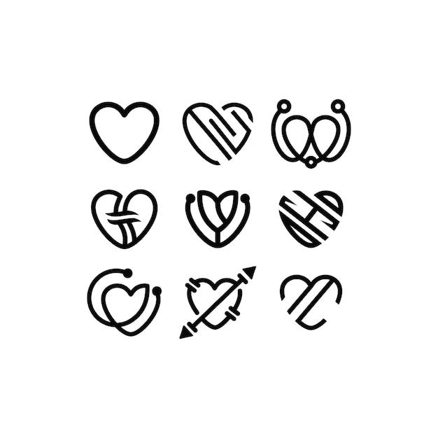 Modèle de vecteur de conception de logo d'amour