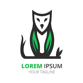 Modèle de vecteur de conception de logo chouette