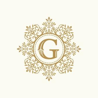 Modèle de vecteur de conception de logo de crête héraldique luxe royal